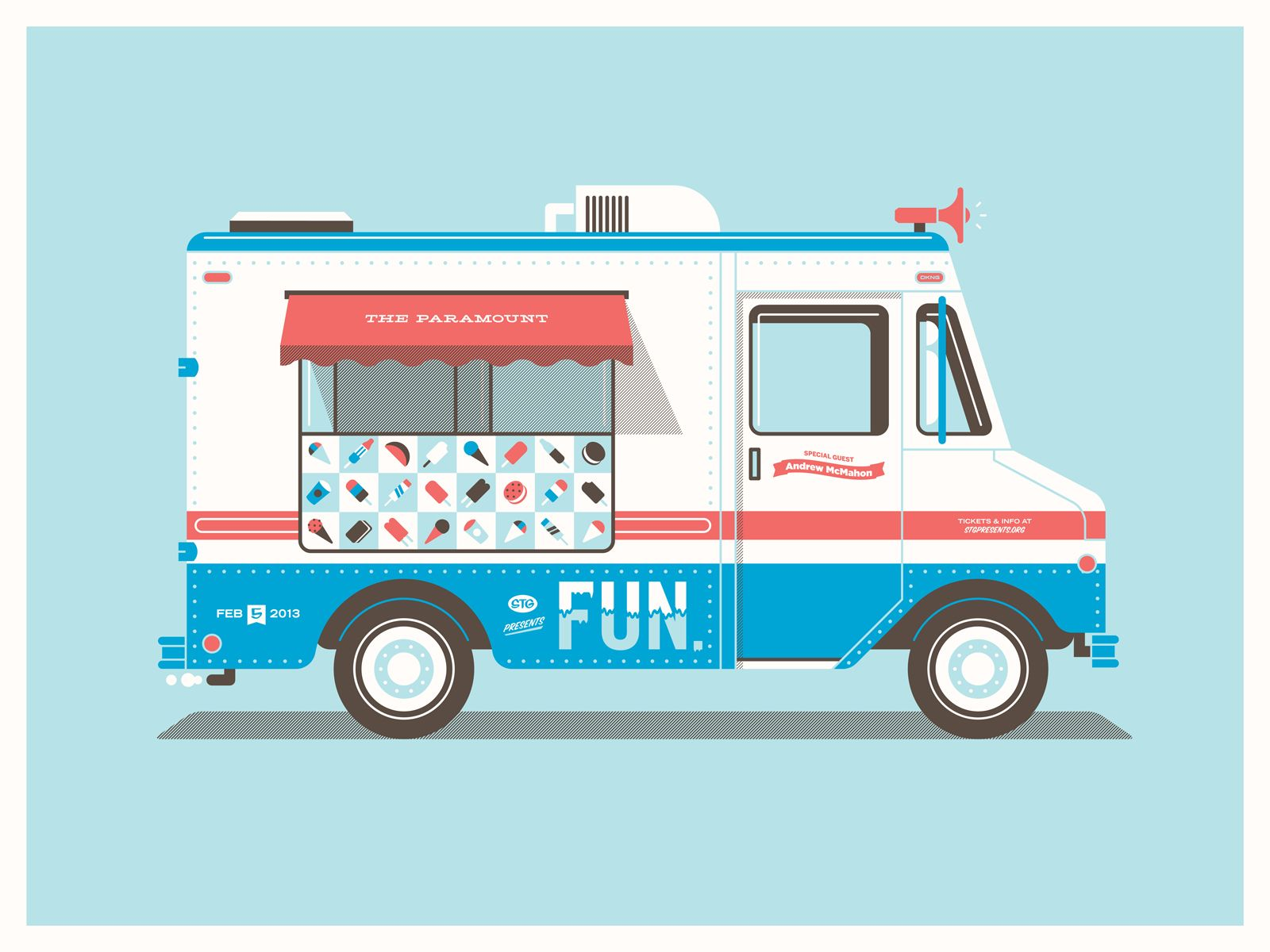 Fun 39 s seattle ice cream truck studio illustrations and for Design your own food truck online