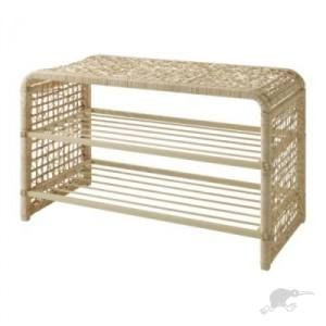 Ikea Bamboo Rattan Shoe Rack Top Ideal For Chair When Changing Shoes Rattan Ikea Shoe Rack For Sale