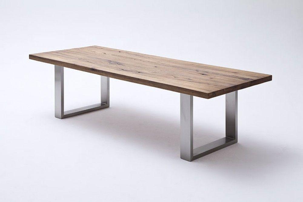 Esstisch aus massiv Eiche, Tisch mit einem Gestell aus