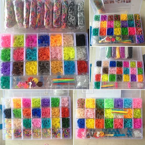 Rainbow Loom Kit 400 13500 Bands Set With Storage Case Box