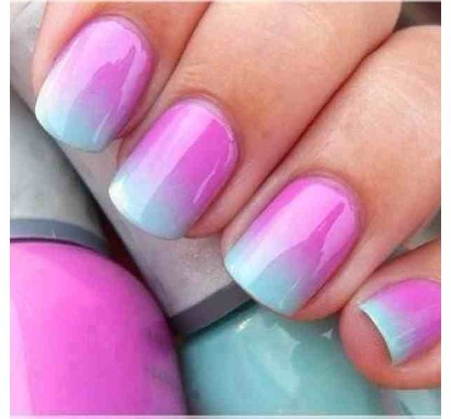 Again, loving pink and blue! The gradient effect is gorgeous ...