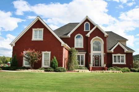 Exterior House Color Ideas Red paint Bricks and House