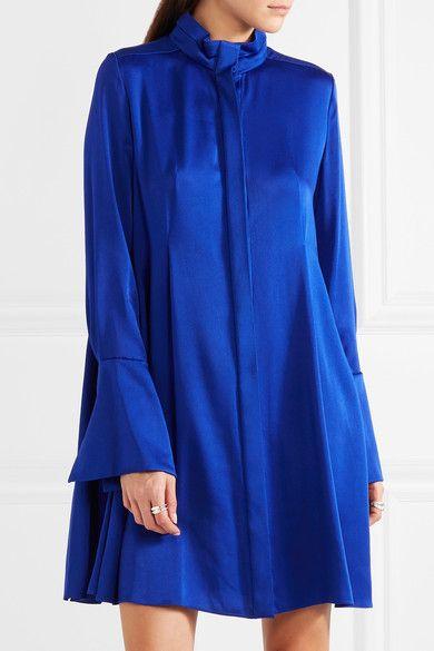 Lanvin | Pleated charmeuse dress | NET-A-PORTER.COM