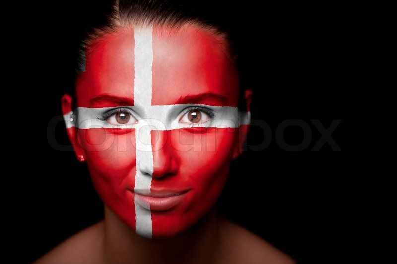 women with flag face paint - Google Search