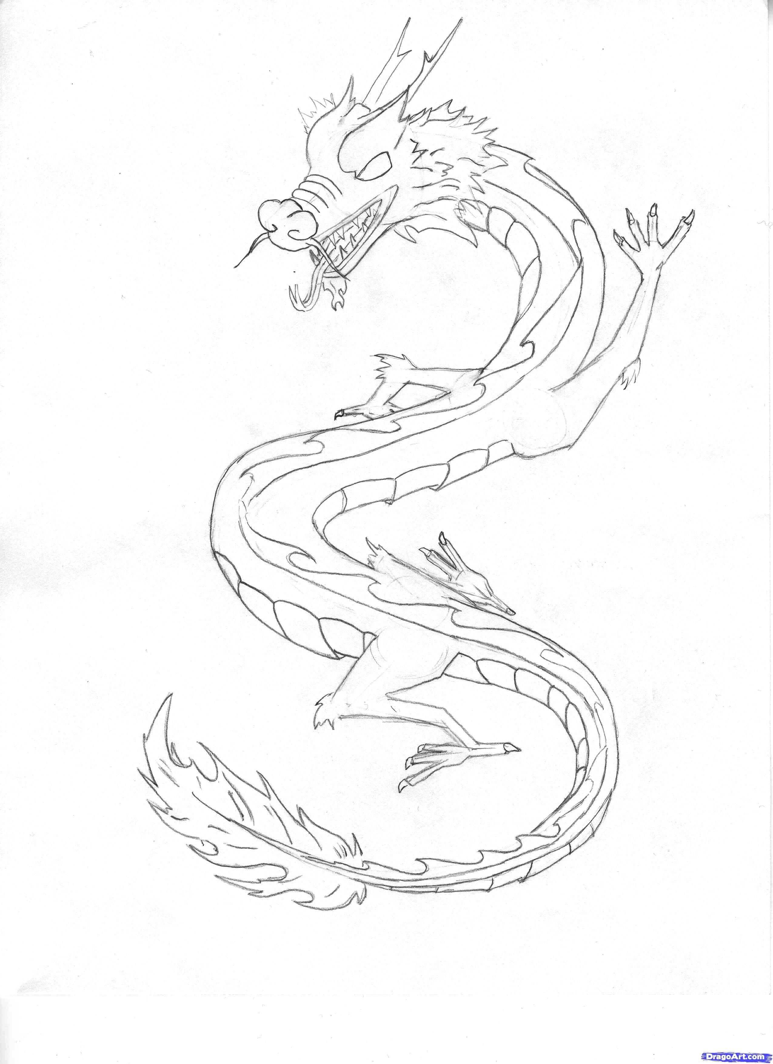Japanese Dragon Drawings how to draw a chinese sky