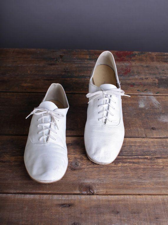 wearing white jazz shoes