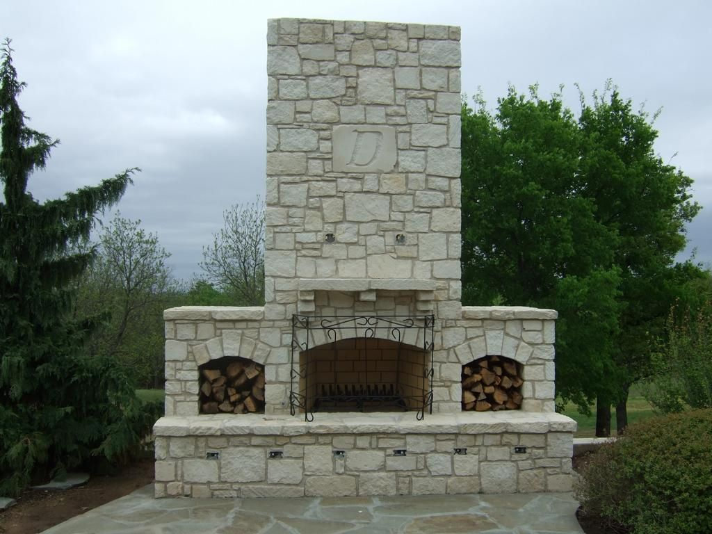 Outdoor Fireplace Materials Austin Stone Fireplace 3 By Rock Solid Materials Llc