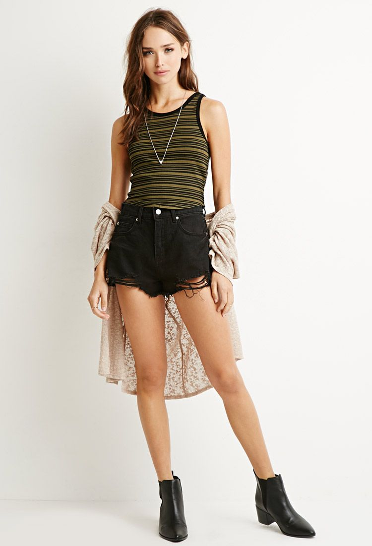 Contrast Striped Crop Top | Forever 21 - 2000131230