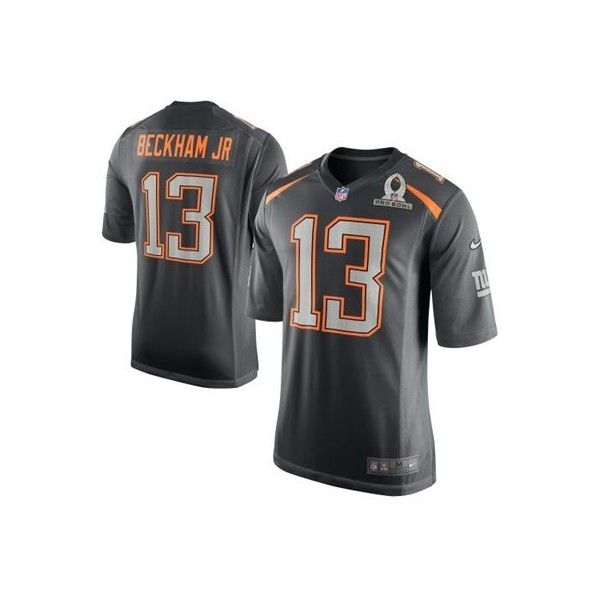 new concept 716bd ed112 Mens Team Irvin Odell Beckham Jr. Nike Gray 2015 Pro Bowl ...