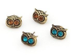 Amazon: 2 Pairs Owl Head Stud Earrings For $0.62 Shipped