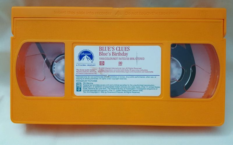 Blues Clues Blues Birthday Vhs 1998 Video Tape Print Or