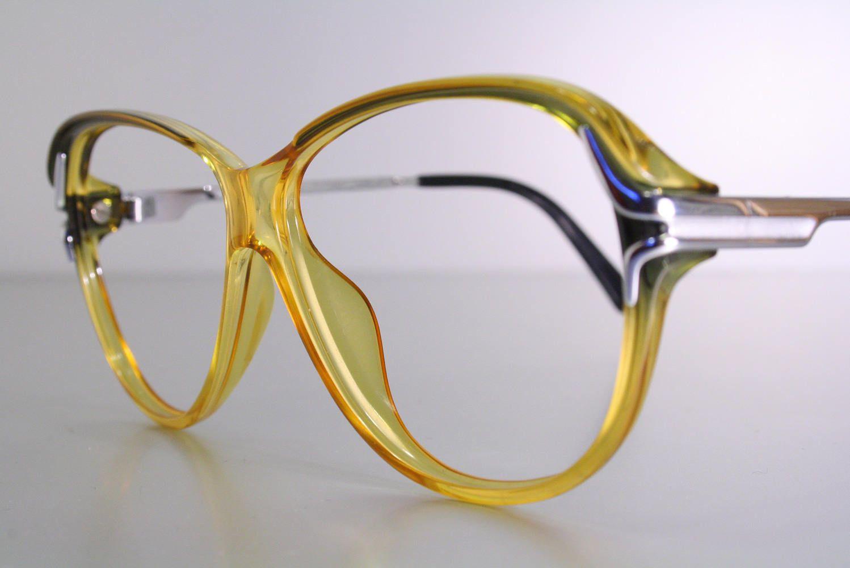 An Old Stock New True Vintage Pair Of Unworn Viennaline Brand Eyeglass Frames Oversize Or Butterfly Style With L Eyeglasses Frames Eyeglasses Frames For Sale