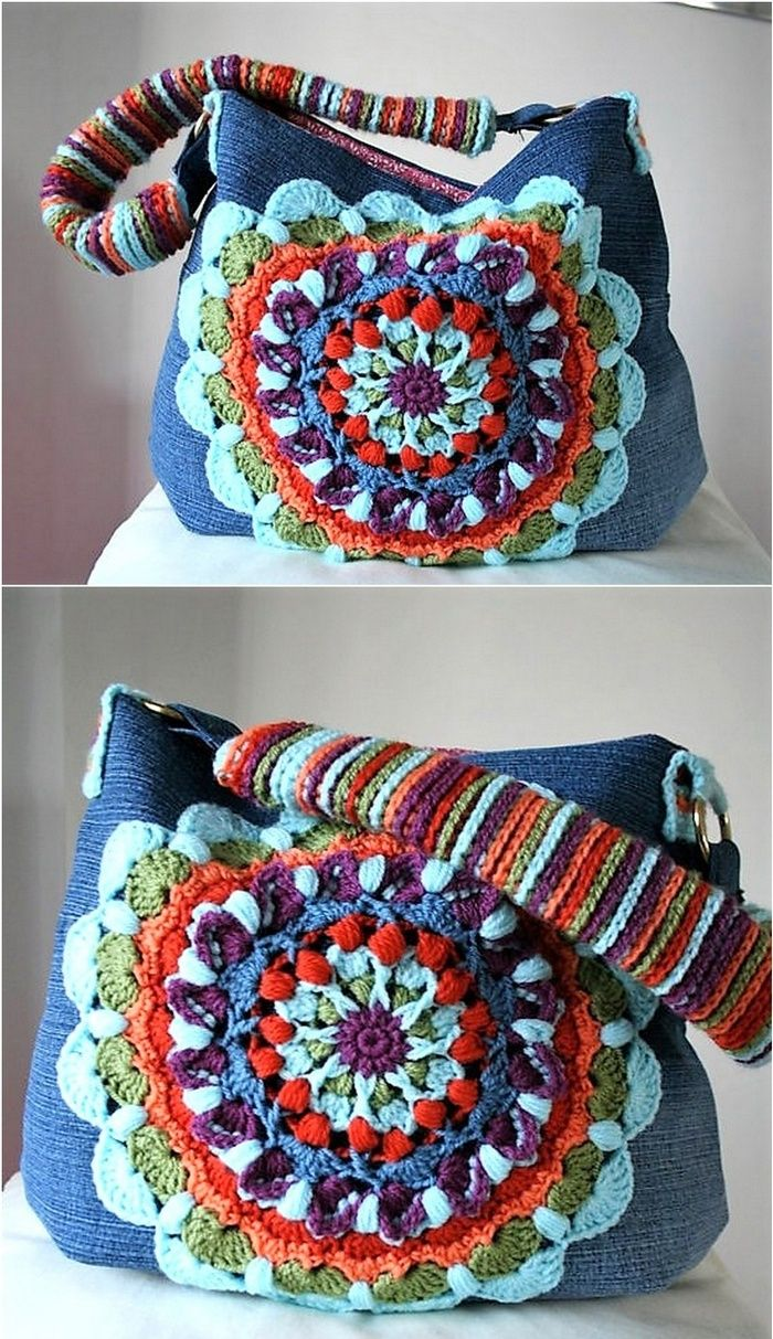Awesome Handmade Crocheted Bag Patterns Pinterest Crocheted Bags