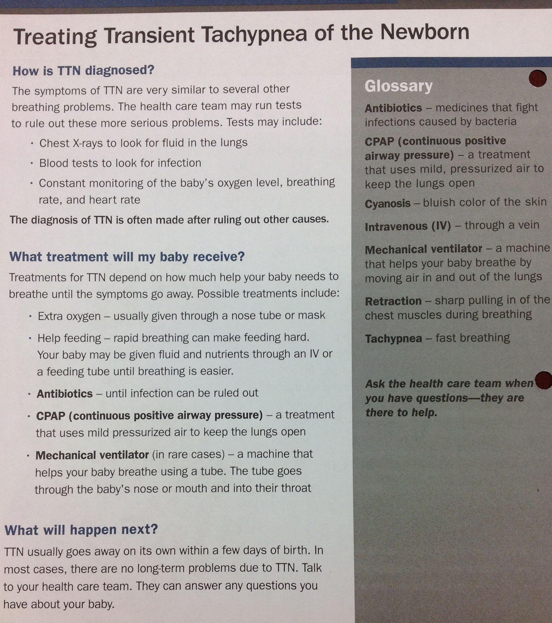 Treating Transient Tachypnea Of The Newborn Ttn Treatmentoptions Babyhealth