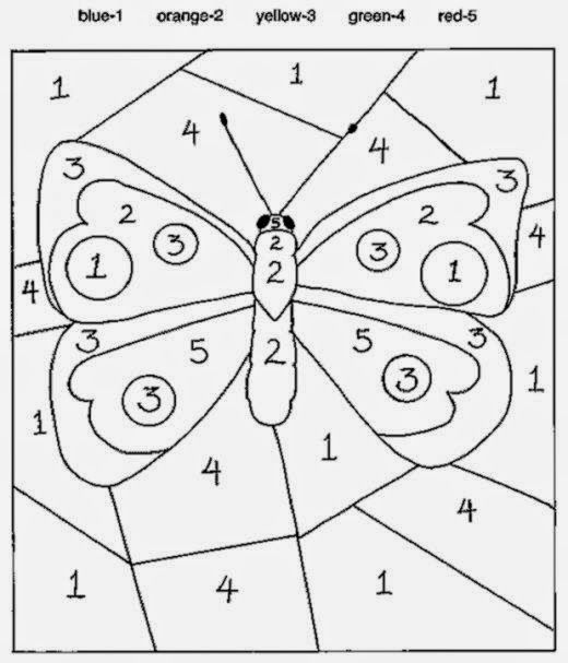 Paint By Number Patterns Google Search Butterfly Coloring Page Numbers For Kids Kindergarten Colors