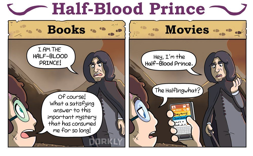 Ways Harry Potter Books Were Different From Harry Potter Movies So Funny And True Harry Potter Movies Harry Potter Facts Phoenix Harry Potter