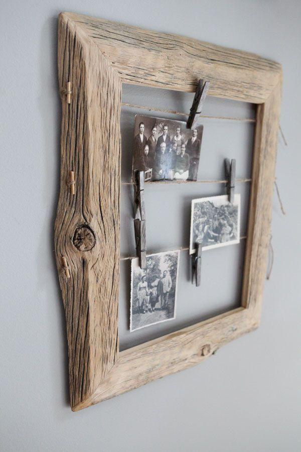 Reclaimed Farm Wood Photo Display 11x14 by IvarsDesign on Etsy, $75.00