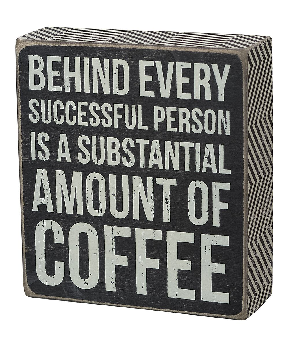 'Amount of Coffee' Wall Sign