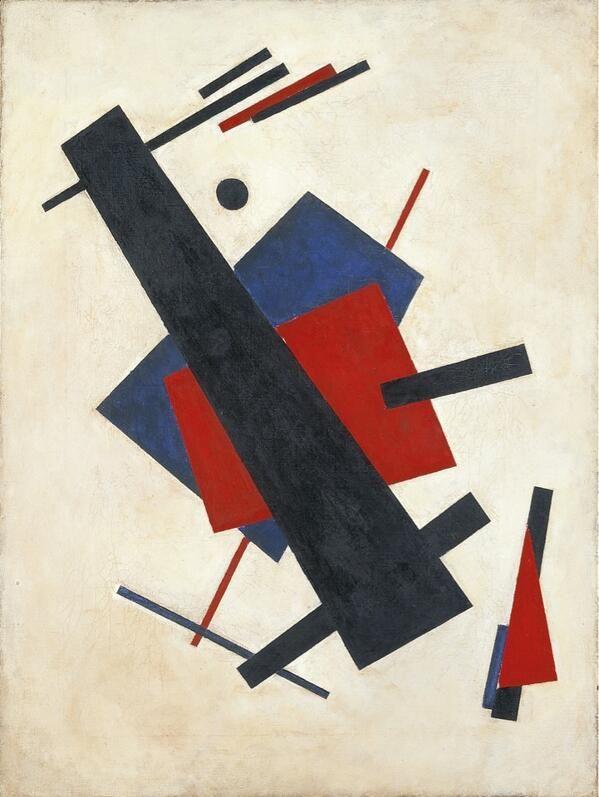 246 Hasta alcanzar la abstracción en el suprematismo de Malevich (este cuadro es de su discípulo Suetin) #Thyssen140 pic.twitter.com/nnZKlEh7UX
