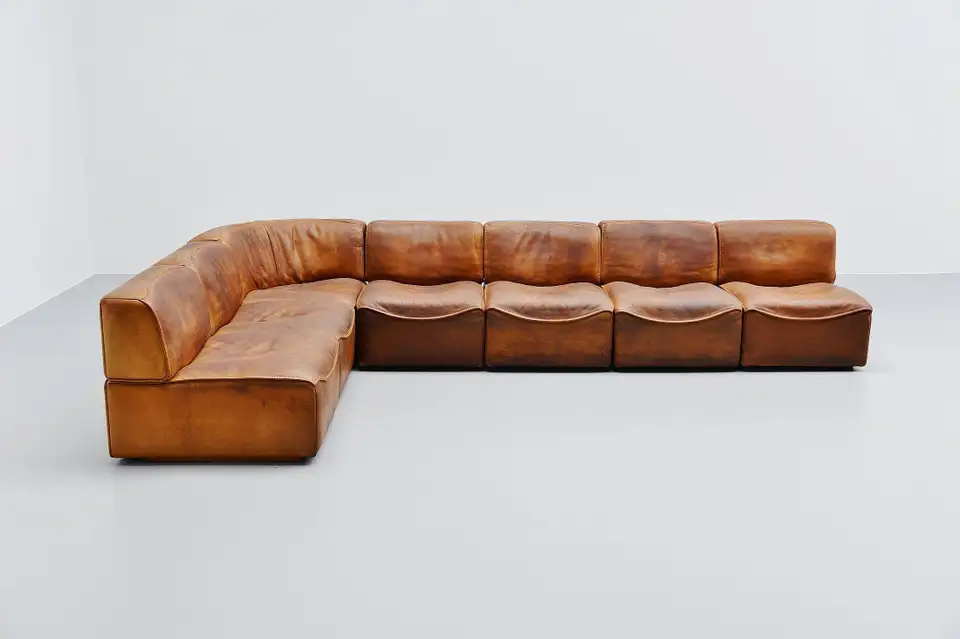 De Sede Ds15 Modular Sofa Natural Leather Switzerland 1970 In 2020 Modular Sofa Modular Sofa Design Sofa Design