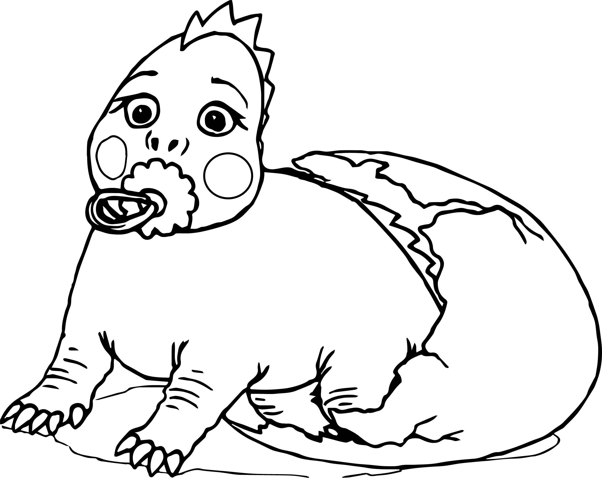 Nice Baby Dinosaur Broken Egg Coloring Page Huevos De Dinosaurio