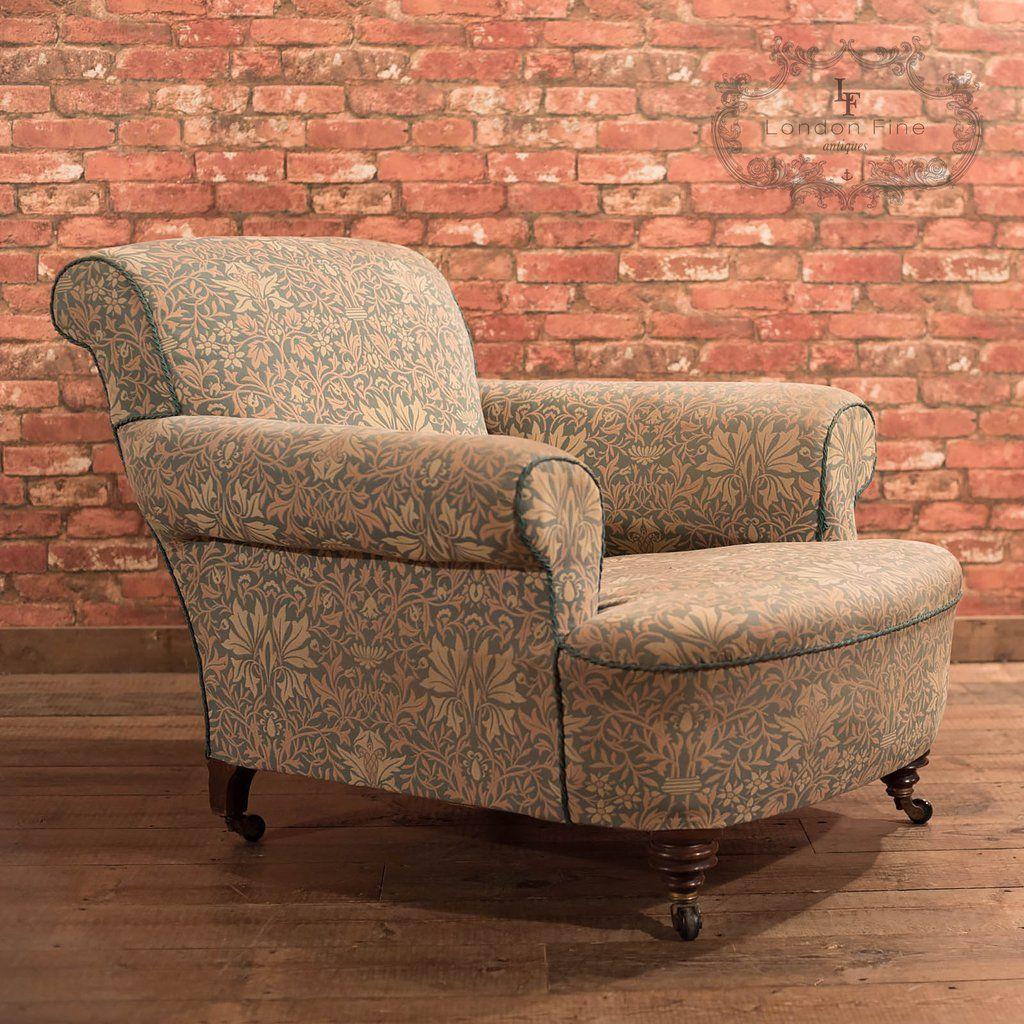 Victorian Armchair, Antique Club Chair c1880 - Victorian Armchair, Antique Club Chair C1880 Antique Chairs And