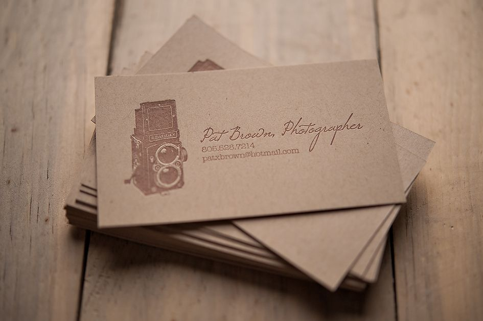 rustic business card kraft business card letterpress business card photographer business card - Rustic Business Cards