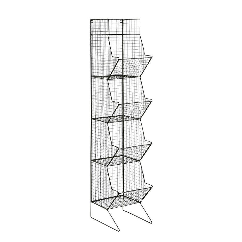 Metal industrial shelf tower unit in black H 130cm | Production