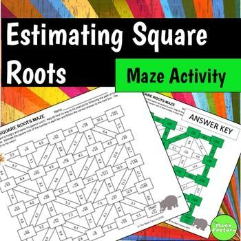 Estimating Square Roots Maze Activity  Square Roots Maze And