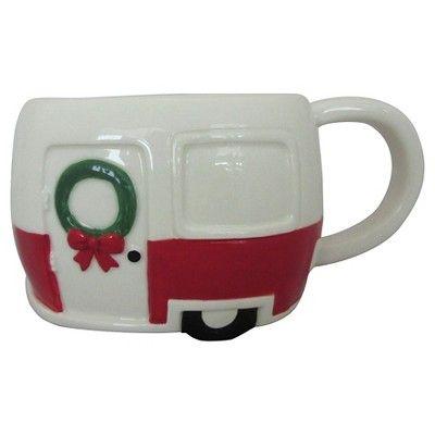 Festive Camper 14oz Earthenware Mug White - Threshold™