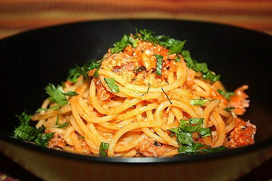 Photo of Spaghetti seasoned with corn sauce Ropa55