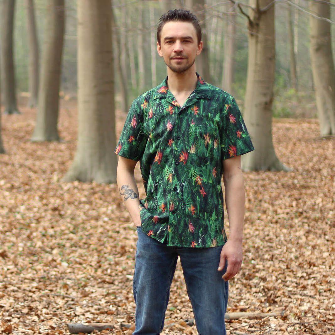 Tropical Shirt sewing pattern   Shirt sewing pattern, Tropical ...
