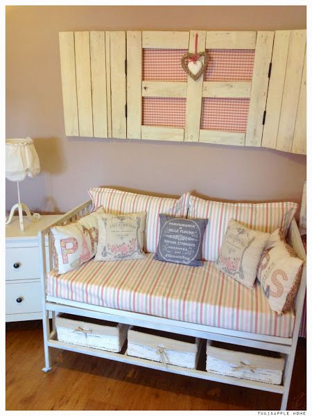 De cuna vieja a un precioso banco sof cunas viejas for Reciclar una cama de madera