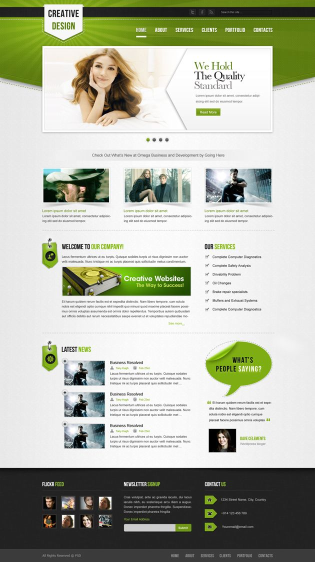 Creative Design- Free PSD Website Template | Web Design | Pinterest ...