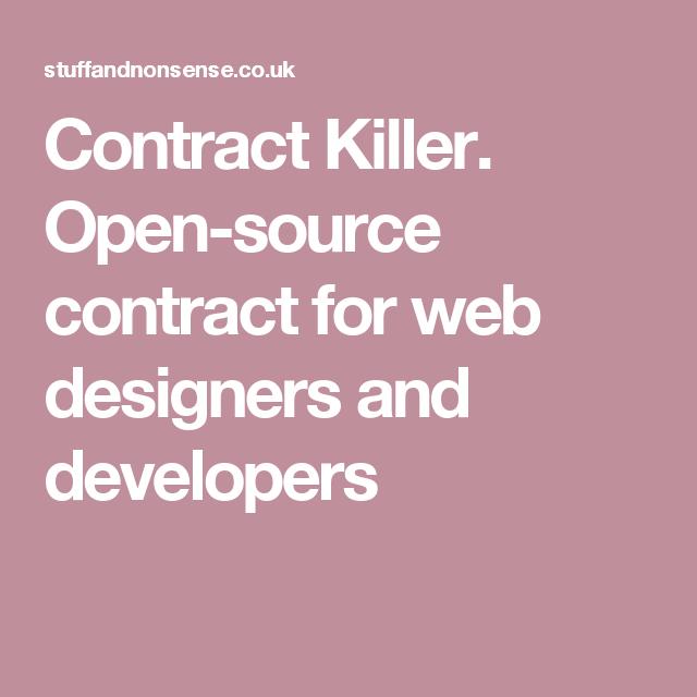 Wordpress Website Design Contract: Contract Killer. Open-source contract for web designers and rh:pinterest.com,Design
