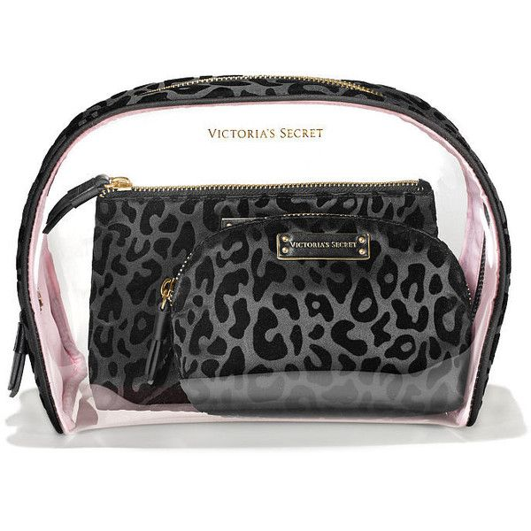 33dbfeed93 Victorias Secret Cosmetic Bag Trio (630.225 IDR) ❤ liked on Polyvore  featuring beauty products