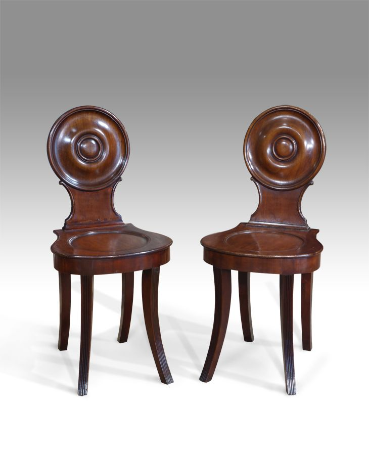 Pair of antique hall chairs - Pair Of Antique Hall Chairs Hall, Antique Chairs And Antique Furniture