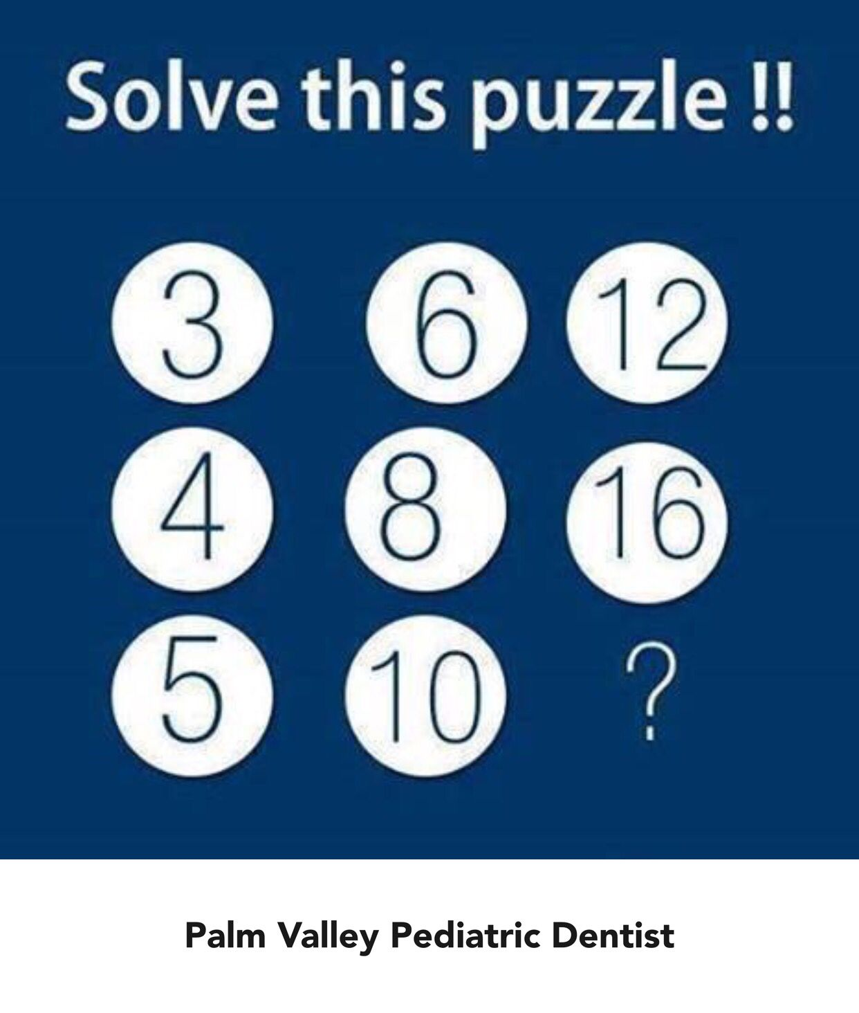 Can you solve this puzzle?! Palm Valley Pediatric