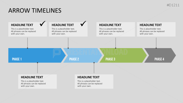 Powerpoint Timelines With Arrows Powerpoint