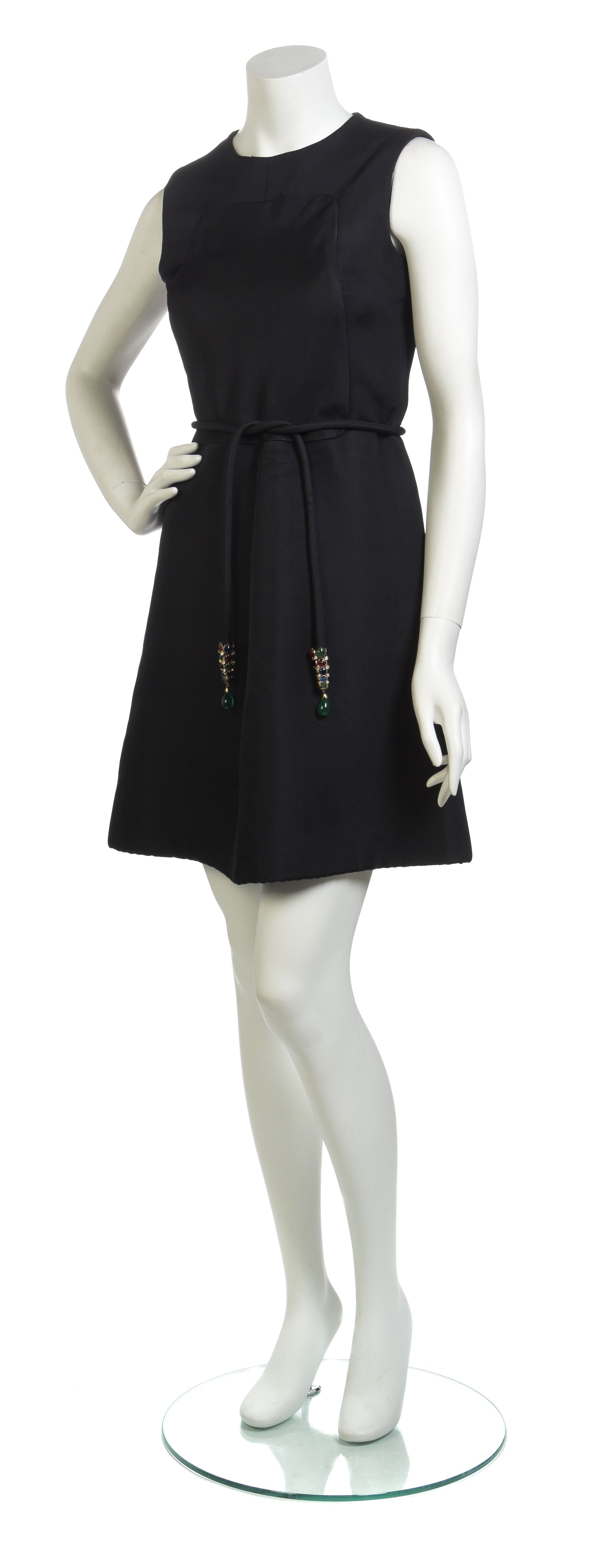 A Christian Dior Couture Black Cocktail Dress