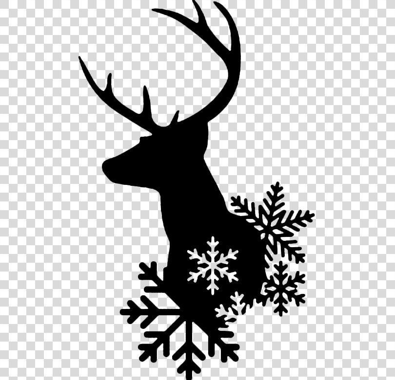 Reindeer Santa Claus Christmas Clip Art Reindeer Png Reindeer Antler Artwork Black And White Branch Clip Art Christmas Clipart Deer Silhouette