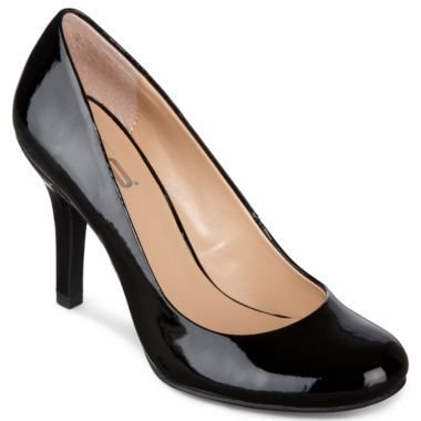 efdf5b67850f 9   Co.® Etoile Pumps in black and taupe found at  JCPenney