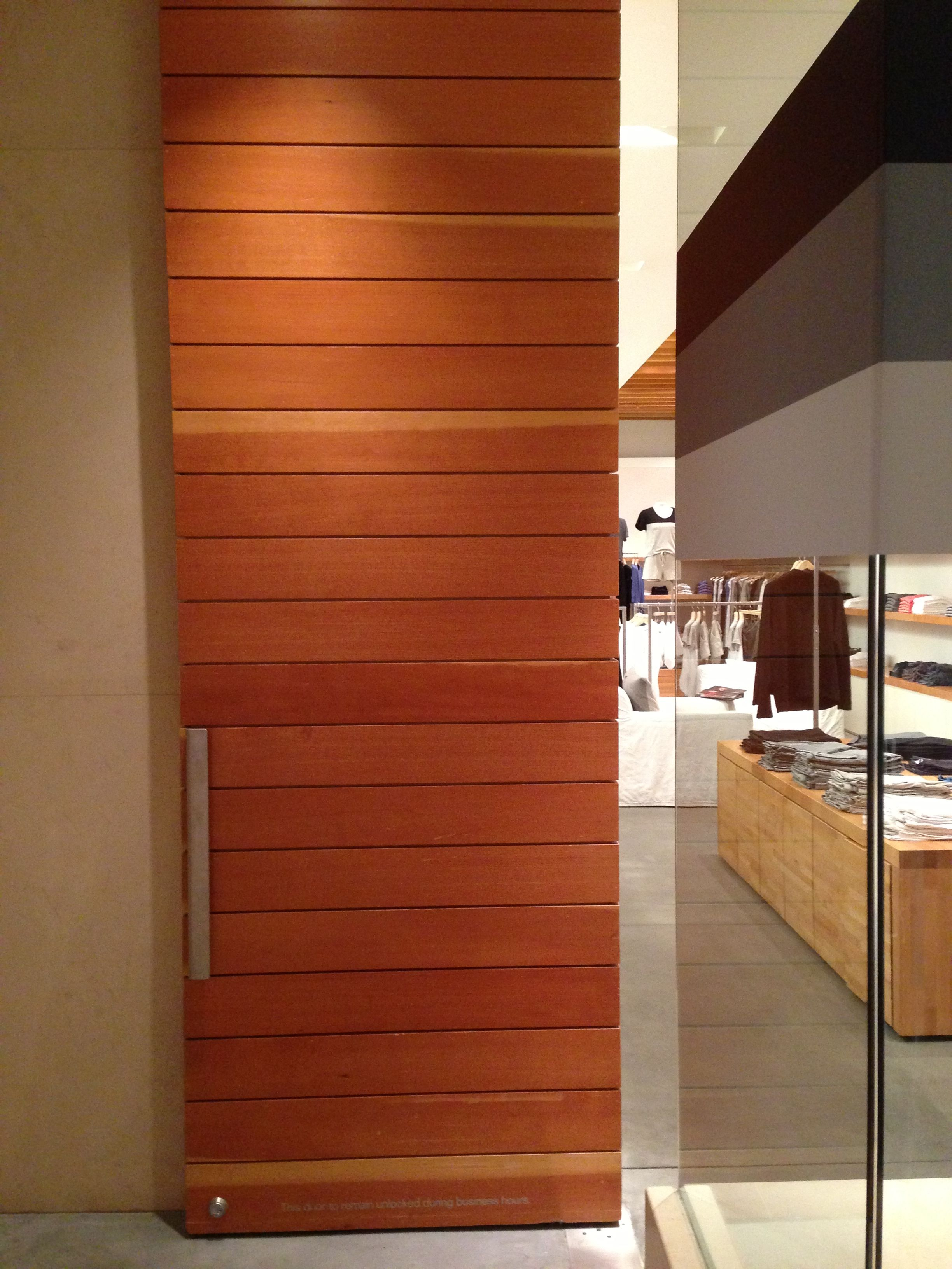 Douglas Fir Door At Store Entry At The Forum Shops In Las Vegas