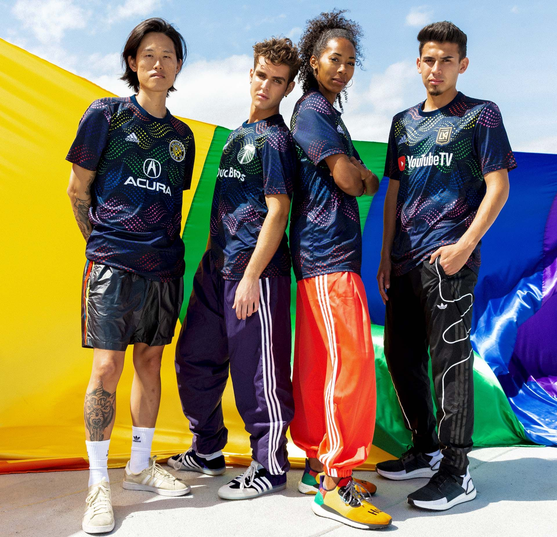 adidas launch mls 2019 pride jerseys  football shirt