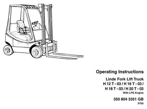 Linde lpg forklift truck 350 03 series h12 h16 h18 h20 linde lpg forklift truck 350 03 series h12 h16 h18 h20 operating manual user manual fandeluxe Image collections