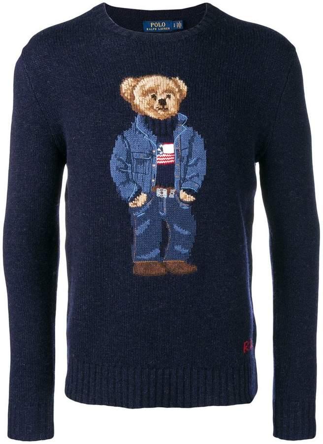 aea3d48264 Polo Ralph Lauren Teddy Bear Knitted Jumper in 2019 | Polo Bear ...