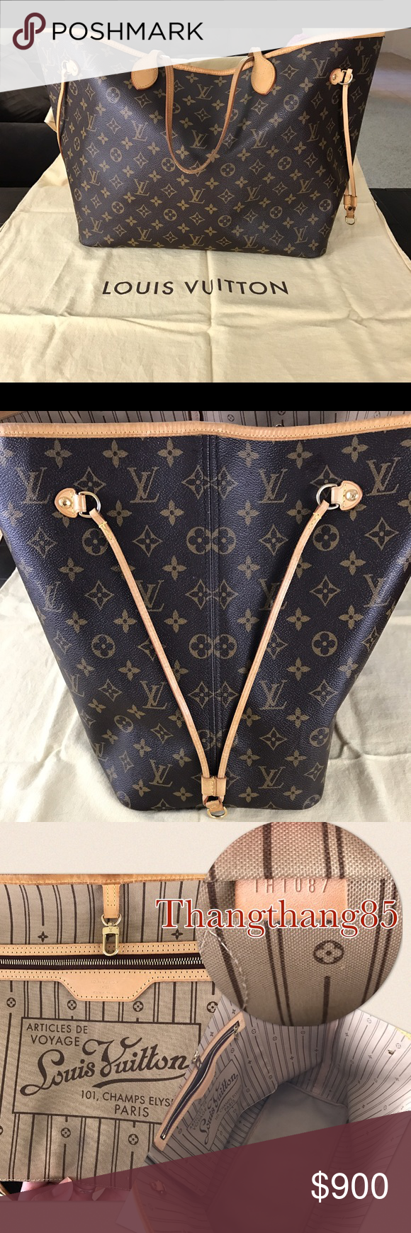 AUTHENTIC Louis Vuitton neverfull GM AUTHENTIC Louis Vuitton neverfull GM. Gently used, in great condition. This bag will come with its original dust bag. Serious inquires only. NO TRADE, thank you. Louis Vuitton Bags Totes