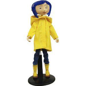 Coraline NECA Rain Coat Bendy Fashion Doll
