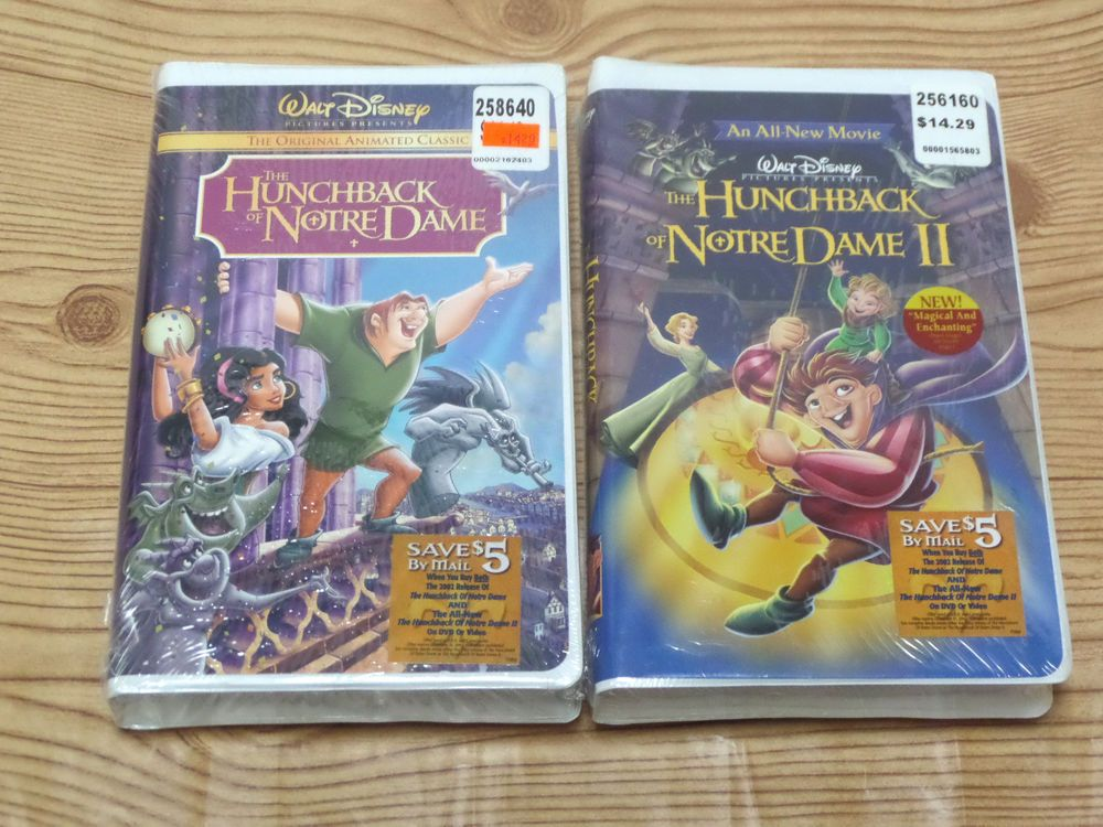 new the hunchback of notre dame 1 amp 2 vhs 2002 walt