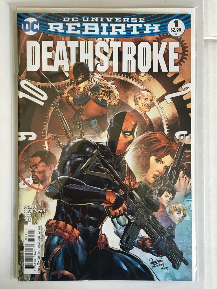 DC Universe Rebirth Deathstroke 1 Regular Cover A 1st Printing Comic Book New | eBay